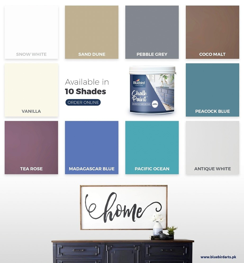 Chalk paint shades bluebird